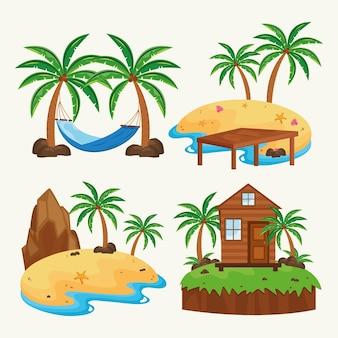 Set of islands scenes