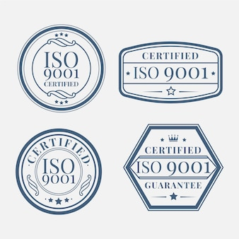 Set of iso certification stamp