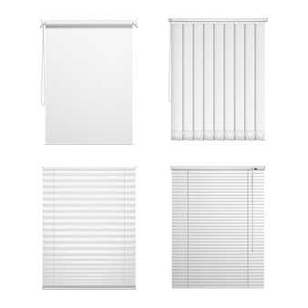 Set of isolated blinds or window louver