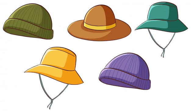 Set of isolated hats