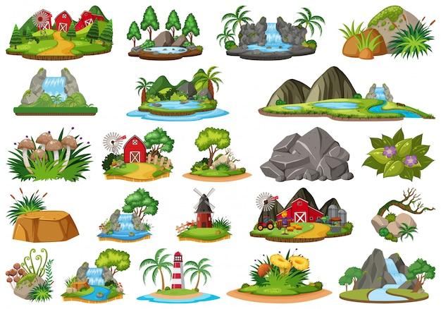 Set of isolated island
