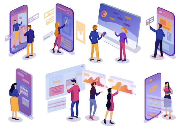 Set of isometric applications for mobile phones