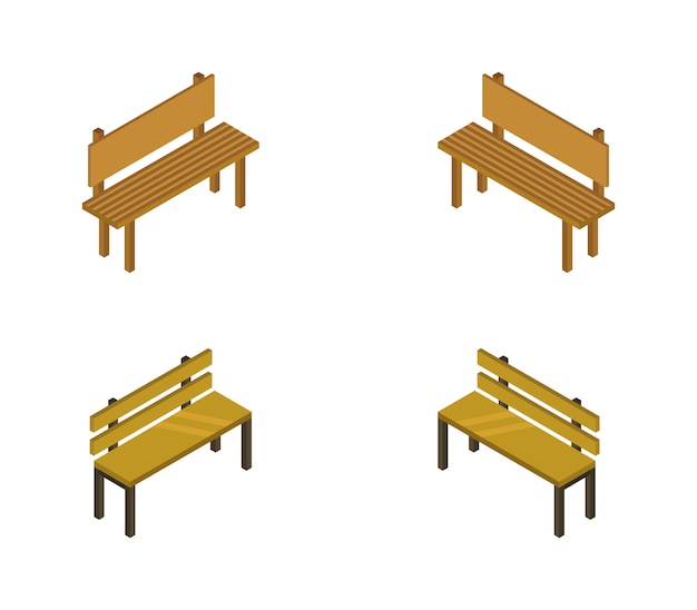 Set of isometric benches