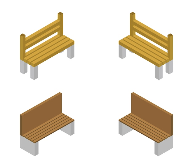 Set of isometric benches