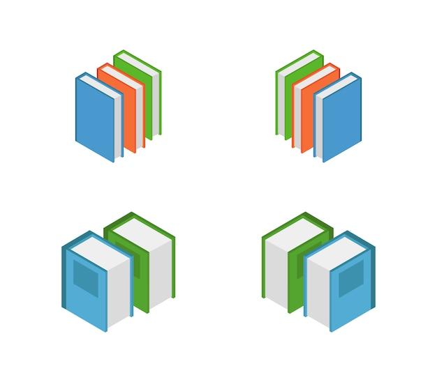 Set of isometric books