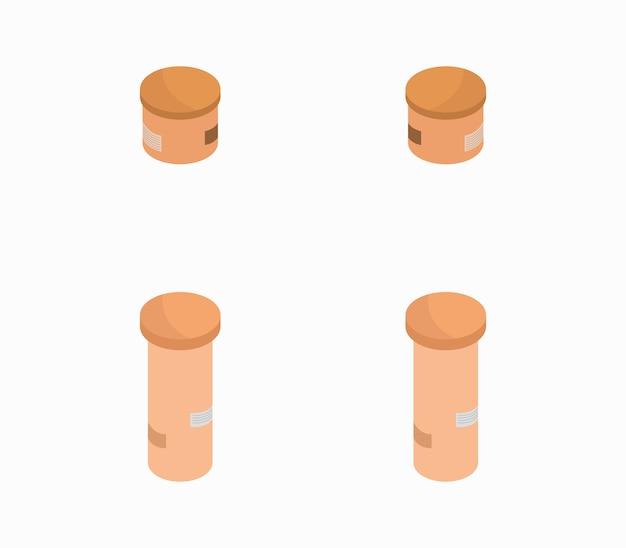 Set of isometric boxes