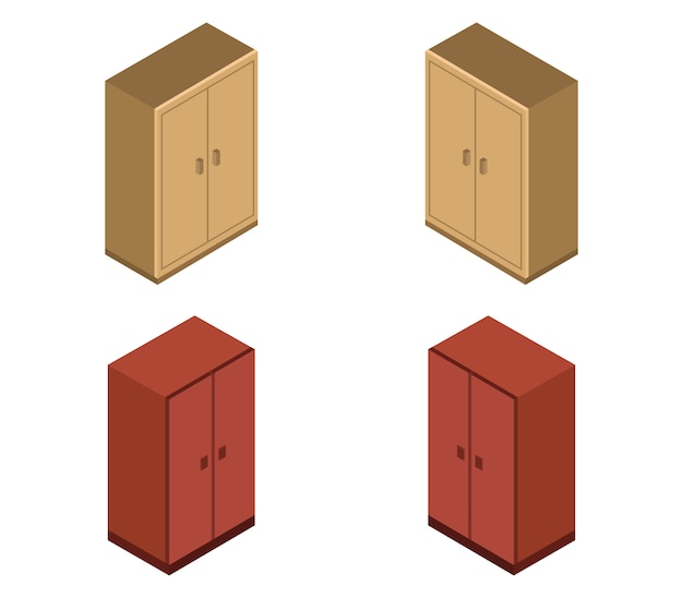 Set of isometric cabinets