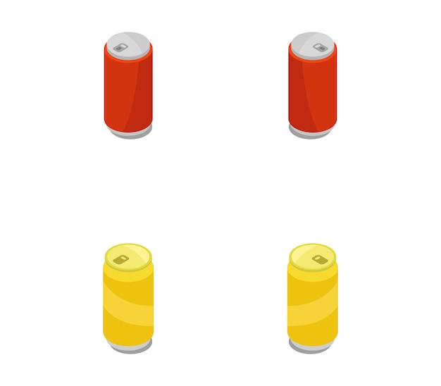 Set of isometric cans
