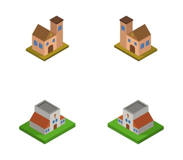Set of isometric churches