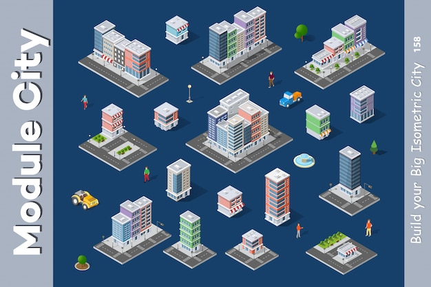 A set of isometric city