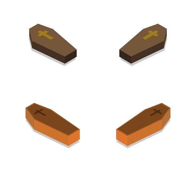 Set of isometric dead coffins
