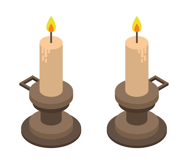 Set di candele di halloween isometriche