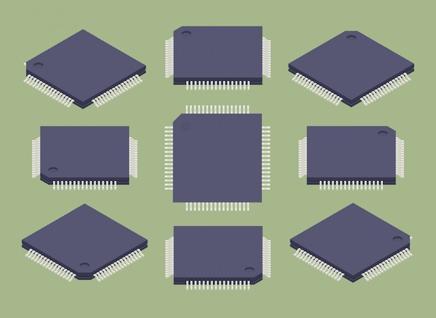 Set of the isometric microchips