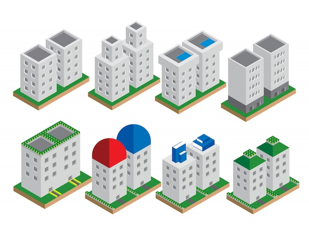Set of the isometric vector elements