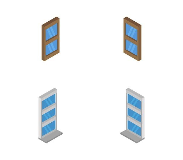 Set of isometric window