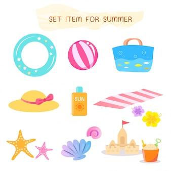 Установить предмет на лето