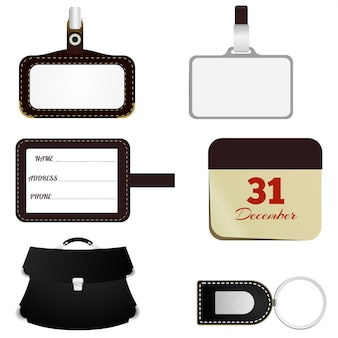 Set of items for business