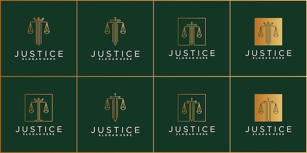 Set of justice logo template