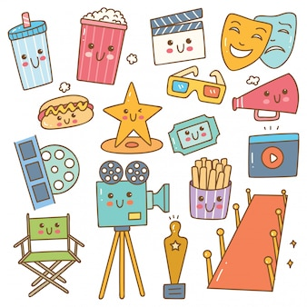 Set of kawaii style movie