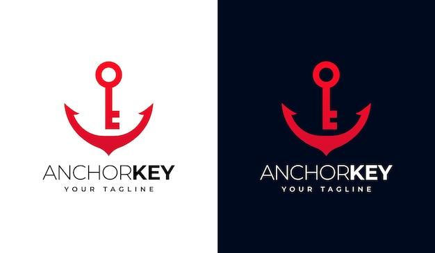 Set of key anchor logo creative design for all uses