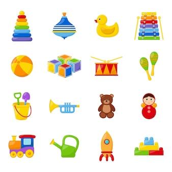 Set of kid toys, vector illustration