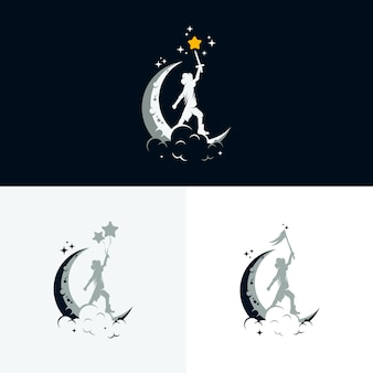 Set of kids dream logo design