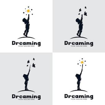 Set of kids dream logo