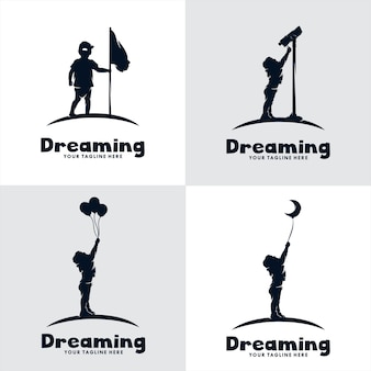 Set of kids dream logo