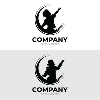 Set of kids dreams logo design inspiration