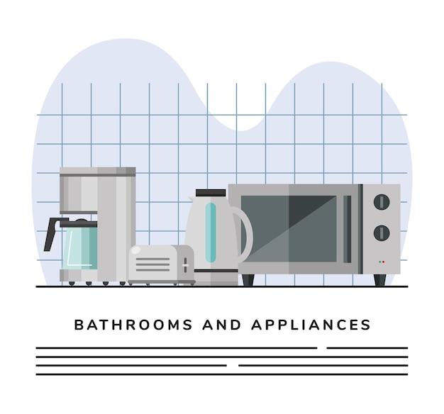 Set of kitchen appliances icons