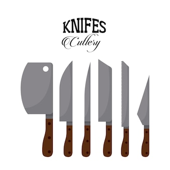 Set knifes design, vector illustration eps10 graphic