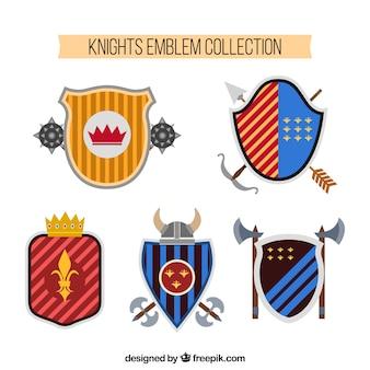 Set of knight emblems