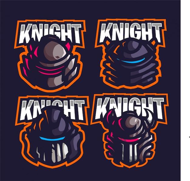 騎士の頭のマスコットゲームのロゴを設定