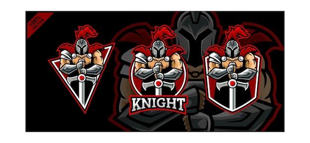 Set of knight sport logo.
