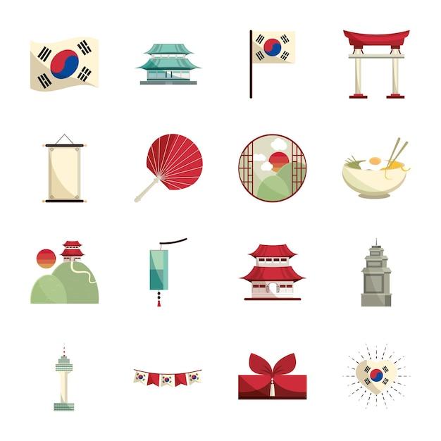 Set of korean culture