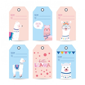 Set labels with llamas