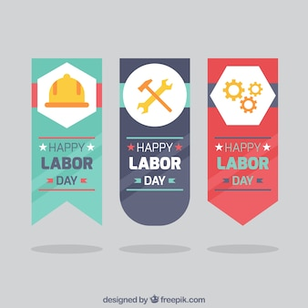 Set of labor day badges