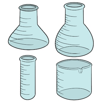 Set of laboratory glassware