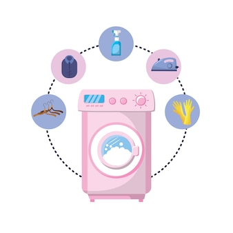 Set laundry equipment to washing the clothes