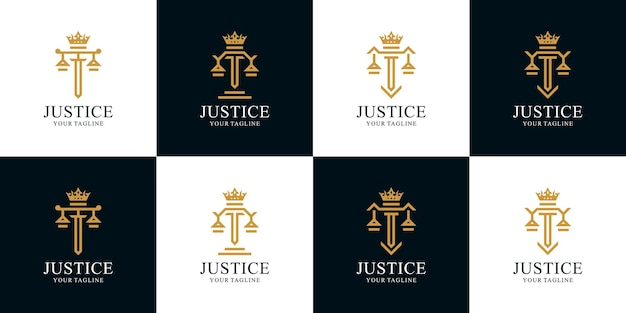 Set of law firm king logo