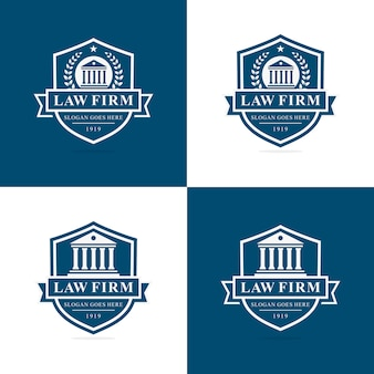 Set of law firm logo template