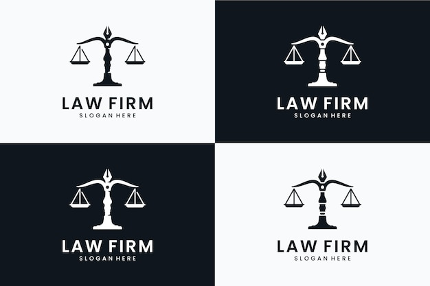 Set of lawyer logo template
