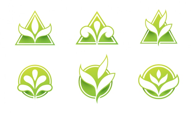 Set of leaf logo