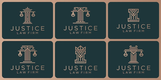 Set of legal symbols, justice, law firm, law firm, attorney services