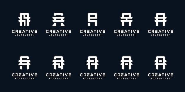 세트 편지 현대 로고 디자인