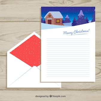 Set of a letter and envelope templates