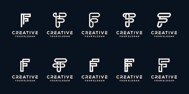 Установить букву f современный дизайн логотипа