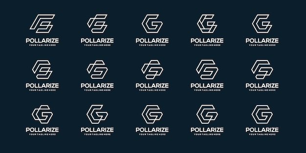Set of letter g logo business template