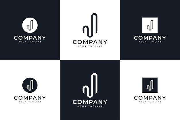 Set of letter j logo creative design for all uses