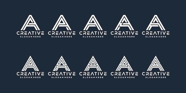 Set of letter a logo design